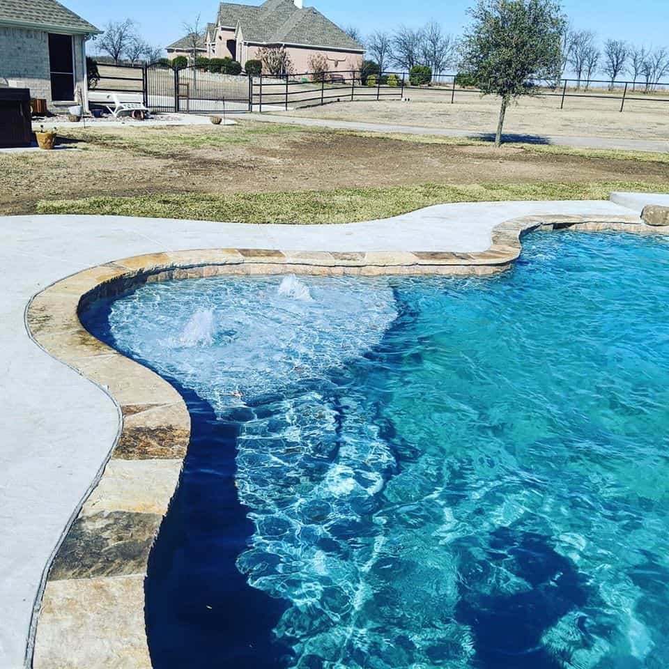 freeform inground pool