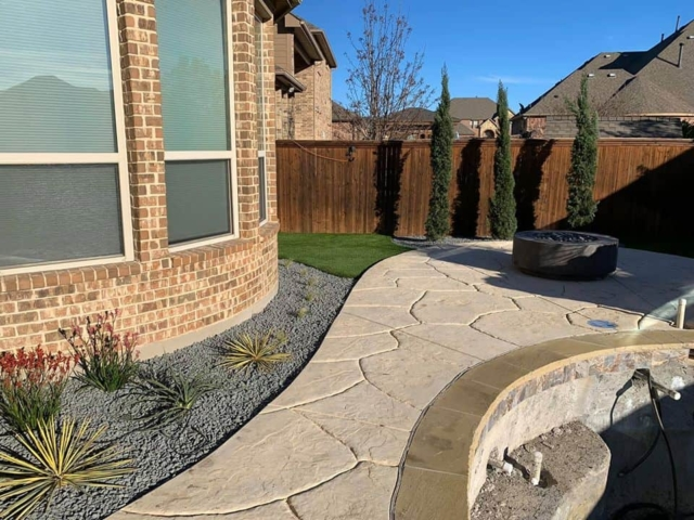 landscaping by new pool